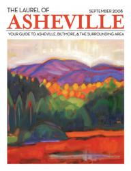 "Cover artist Sept 08 issue of ""The Laurel of Asheville"" magazine"